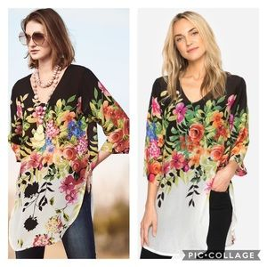 "Johnny Was ""Betty"" Floral Blouse"